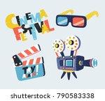 vector cartoon set illustration ... | Shutterstock .eps vector #790583338