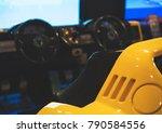 racing simulator game in theme... | Shutterstock . vector #790584556