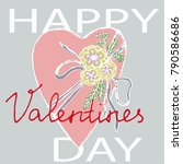 vector hand drawn greeting card ... | Shutterstock .eps vector #790586686