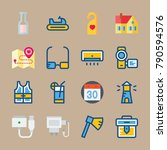 icon set about travel. with... | Shutterstock .eps vector #790594576