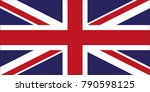 icon of the uk flag. | Shutterstock .eps vector #790598125