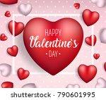 valentine's day background.... | Shutterstock .eps vector #790601995