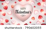 valentine's day background....   Shutterstock .eps vector #790602055