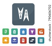 clip icons. vector collection... | Shutterstock .eps vector #790606702