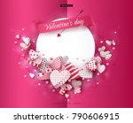 valentines day. a beautiful... | Shutterstock .eps vector #790606915
