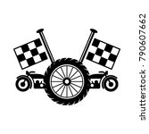 motorcycle logo for racers | Shutterstock .eps vector #790607662