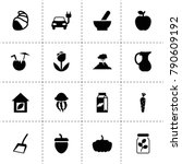 natural icons. vector... | Shutterstock .eps vector #790609192