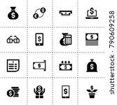 dollar icons. vector collection ...   Shutterstock .eps vector #790609258