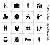 person icons. vector collection ... | Shutterstock .eps vector #790609342