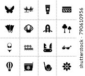 summer icons. vector collection ...