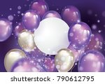 flying pearl and ultra violet... | Shutterstock .eps vector #790612795