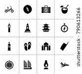 travel icons. vector collection ...