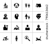 man icons. vector collection...