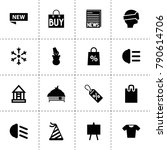 new icons. vector collection... | Shutterstock .eps vector #790614706