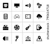 technology icons. vector...   Shutterstock .eps vector #790614718