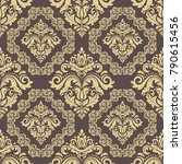 orient vector classic brown and ... | Shutterstock .eps vector #790615456
