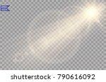 vector transparent sunlight... | Shutterstock .eps vector #790616092