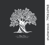 olive tree. nature. vector... | Shutterstock .eps vector #790616968