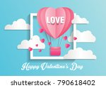 love and valentine day card... | Shutterstock .eps vector #790618402