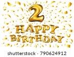 vector balloon number 2 two.... | Shutterstock .eps vector #790624912