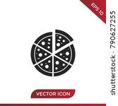 pizza icon vector | Shutterstock .eps vector #790627255