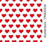 heart love pattern background | Shutterstock .eps vector #790633318