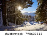 winter view of gleize peak from ... | Shutterstock . vector #790633816