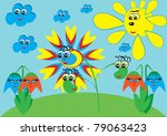 cartoon little flower on... | Shutterstock .eps vector #79063423
