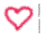 painted heart simple vector... | Shutterstock .eps vector #790636096