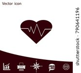 cardiology icon with heart and... | Shutterstock .eps vector #790641196