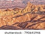 zabriskie point in death valley ...   Shutterstock . vector #790641946