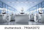 3d rendering humanoid robots... | Shutterstock . vector #790642072