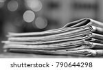 pile of newspapers. folded and...   Shutterstock . vector #790644298