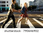 lovely young couple dressed in... | Shutterstock . vector #790646902