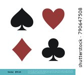 poker card sign  casino icon... | Shutterstock .eps vector #790647508