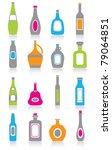 bottle icons | Shutterstock .eps vector #79064851