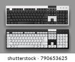 white and black computer... | Shutterstock .eps vector #790653625