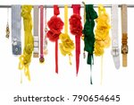 set of woman many colorful... | Shutterstock . vector #790654645