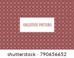vector hearts and flowers...   Shutterstock .eps vector #790656652
