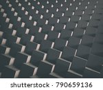 abstract grunge stacked cubes.... | Shutterstock . vector #790659136