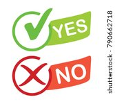 checklist yes and no icon | Shutterstock .eps vector #790662718