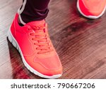 woman wearing sportswear... | Shutterstock . vector #790667206