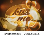 kiss me  the concept of love ... | Shutterstock . vector #790669816