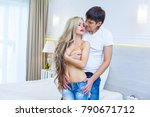 beautiful young passionate... | Shutterstock . vector #790671712