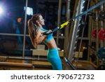 Beautiful Muscular Woman Doing...