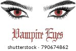 vampire eyes. beautiful female...   Shutterstock .eps vector #790674862