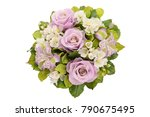 bouquet of flowers view from... | Shutterstock . vector #790675495