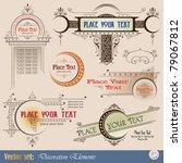 decorative elements for design... | Shutterstock .eps vector #79067812