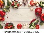 heap of fresh organic tasty... | Shutterstock . vector #790678432