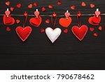 valentine gift making  diy... | Shutterstock . vector #790678462